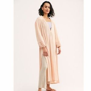 Free People Primrose Maxi Dress in Shell Pink